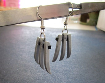 Wolverine Claw Cosplay Dangle Earrings Laser Cut Snickety Logan Adamantium Claws