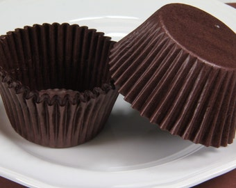 Brown, Jumbo 2.25'' Paper Cupcake Muffin Liners, Baking Cups
