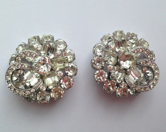 Eisenberg Icy Clear Rhinestone Earrings - Wedding