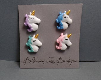 Unicorn Magnet Set - Fridge Magnets - Pastel Magnets - Fantasy Magnets - Pastel Unicorn - Kitchen Magnets - Unicorn Magnets