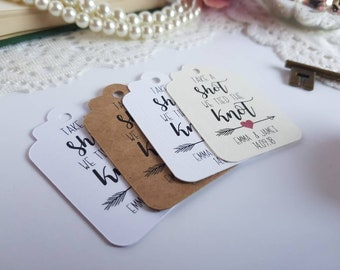 Take a Shot We Tied the Knot Tags - Shot Glass Tag - Liquor Bottle Tag - Alcohol Wedding Favours - Wedding Favor Tag - Miniature Bottle Tags