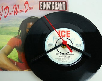 "Eddie Grant - ""I Don't Want To Dance"" 7"" Record klok"