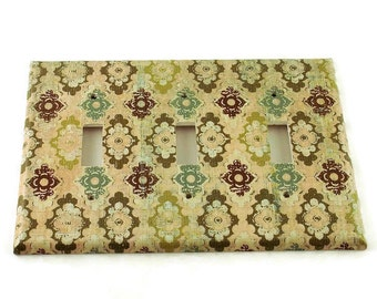 Switch Plate Triple Toggle Light Switch Cover Switchplate  in Justine (111T)