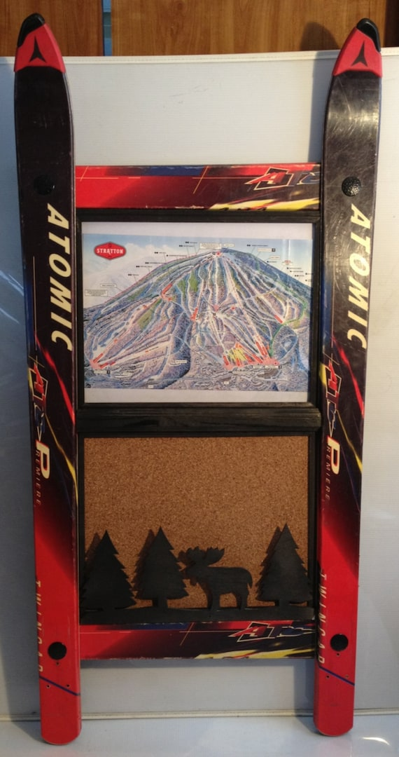 CUSTOMIZE your own Ski Picture frame with Corkboard and Wood