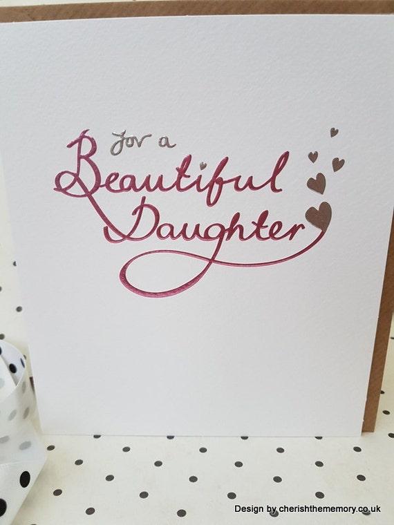 Für eine schöne Tochter Geburtstagskarte mit Liebe für eine