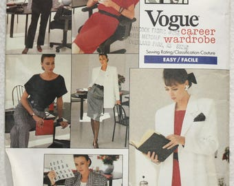 "Size 12-14-16 bust 34""-38""  Vogue Career Wardrobe Sewing Pattern 2023 Jacket, Dress, Top, Skirt, Pants Wardrobe"