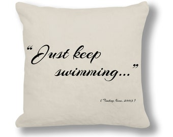 Finding Nemo 2003 Film Quote Cushion Cover (FQ023 - Natural)