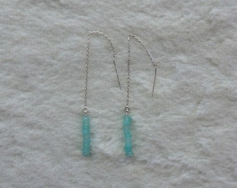 Blue Jade Ear Threads