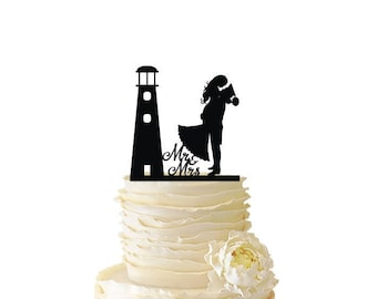 Lighthouse with Bride and Groom - Standard Acrylic - Wedding - Anniversary - Military - 125