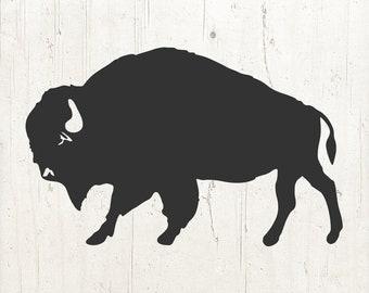Buffalo SVG, Bison SVG, Buffalo graphic, Buffalo png, Buffalo silhouette, Bison silhouette, SVG, Silhouette svg, Silhouette