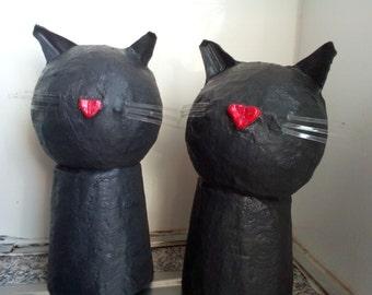 Money Box - Black Cat - Paper Mache