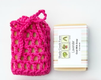 Handmade Soap on a Rope Saver Soap Set Soap Cozy Crochet Soap Saver Cotton Soap Sack Soap Holder vegan gift for Mom Mothers Day Gift