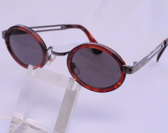 Vintage Small Oval Combo Sunglasses/ Tortoise/Silver
