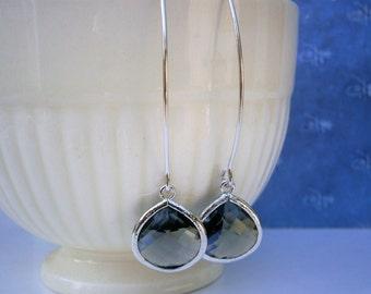 Grey Earrings, Silver Earrings, Best Friend Birthday, Gray Earrings, Bridesmaid Earrings, Bridal Jewelry