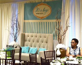 Baby shower  backdrop, dessert table decor, baby shower sign, baby shower gift, backdrop (7ftx5ft)