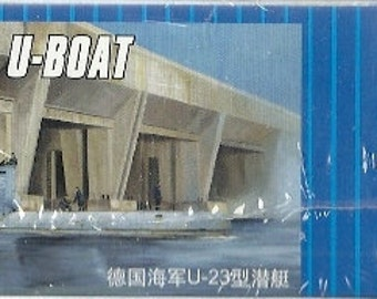 Model  Submarine German U-Boat 1/144 scale kit Navy WWII  Military Naval Combat Sub Build 3 types Nautical warship World War II