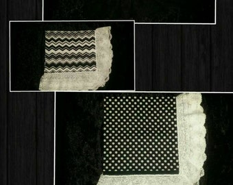Black and White Lap Scarf