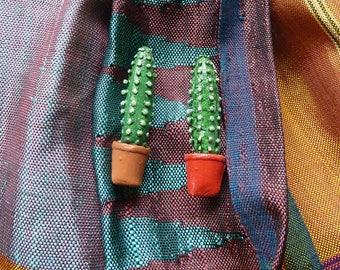 Cactus Scarf Pin Brooch