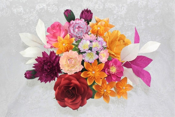 Origami flowers paper flower arrangementspaper flower mightylinksfo