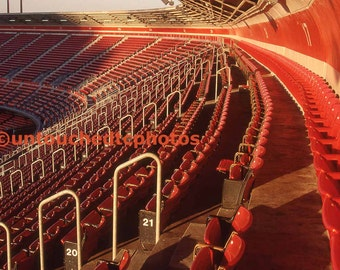 Candlestick Park Red Chairs Photograph - Various Sizes including 5x7 Magnet Option