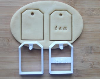 Tea Bag Cookie Cutter 3D Printed  | Tea Party Cookies \ Bridal Shower Cookie Cutter \ Baby Shower Cookies \ Tea Lover Gift \ Teabag