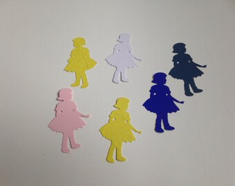 60 Boy- girl and angel die cut ( 20 each)