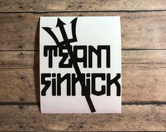 team finnick / decal / finnick / sugar cubes / hunger / games / katniss / everdeen / trident