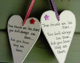 True friends heart plaque