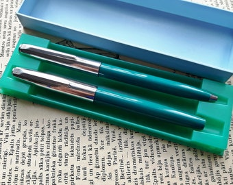 Vintage Soviet MZPP Era-2 Fountain Pen and Ballpoint Pen 1983's
