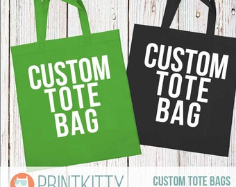 Custom Tote bags - Personalized tote bags - Name tote bag - Woven Tote Bag - Bridal party tote bag - Wedding Tote Bags