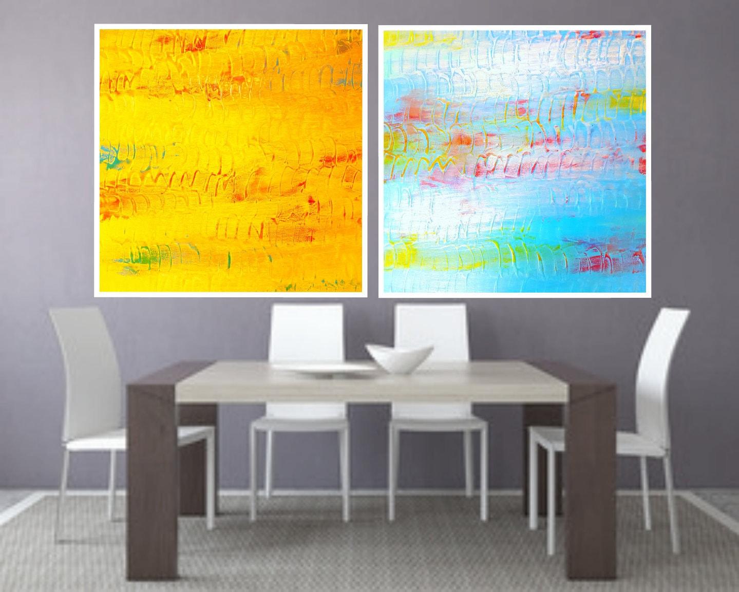 Abstract print, PRINTABLE Art, Abstract art, set of two Modern ...