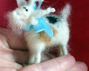 Miniature Goat Felted Ornament