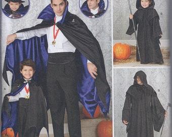 Simplicity 1349 Mens & Boys Vampire Cape Grim Reaper Costume UNCUT Sewing Pattern
