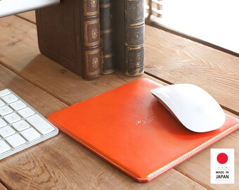 leather,mouse pad,100% hand made,made in Japan,gift,present,minimalist