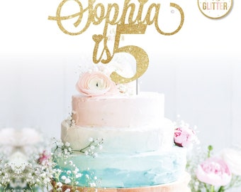 Customised cake topper, Birthday, Gold cake topper, glitter cake topper, custom, personalised, birthday, one two three four five six 1 2 3 4