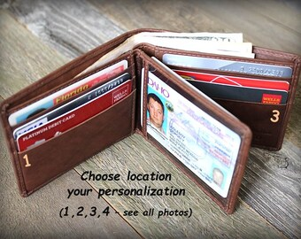 Mens Wallet - Fathers Day Gift - Fathers Gift - Mens Personalized Wallet - Father Gift - Mens Leather Wallets Dad - Mens Wallet -Toffee-7745