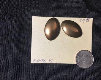 Earrings- oval studs