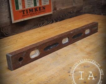 "Vintage Industrial 24"" Craftsman Wood Level"