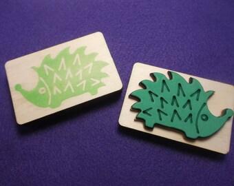 Stamp, hedgehogs, 7 x 4,5 cm (S10-0001B)