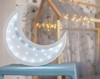 Moon lamp - Gift for baby - Night light - Kids lamp - Nursery night light - Lamp Moon - Marquee lamp - Moon nursery