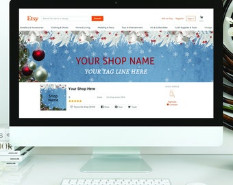 Blank diy etsy shop set christmas banner do it yourself etsy banner etsy shop banner etsy banner set etsy banner holidays business solutioingenieria Image collections