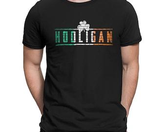 Hard Hooligan Brick Wall Football Firm Saint St. Patrick's Paddy's Irish Colors T-Shirt Tee Shirt Mens Ladies Womens mad labs MLG-1343