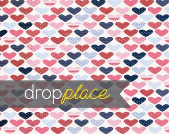 Printed Hearts Photography backdrop  Background Photo Booth Printed vinyl or Fabric (Multiple Sizes Available)