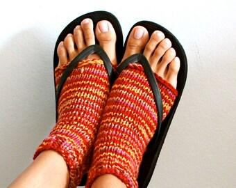 Custom Yoga Socks - Toeless Heel-less - Knit Stirrup Socks for Women - VARIOUS COLORS AVAILABLE