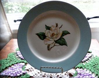 Vintage Lifetime Co Turquoise 10 inch plate Magnolia