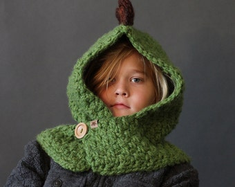 Crochet PATTERN Hooded Dino Cowl Crochet Hood Pattern Includes Sizes  1 Year to Adult