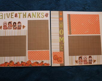 12 x 12 give thanks scrapbooking layout