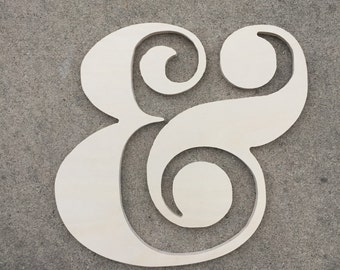 """Ships Free! Ampersand, and symbol, &, weddings, anniversaries, monograms, wall decor, boyfriend gift, wooden symbols and letters, """"and"""" sign"""