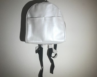 Recycled Pearl Leather Backpack