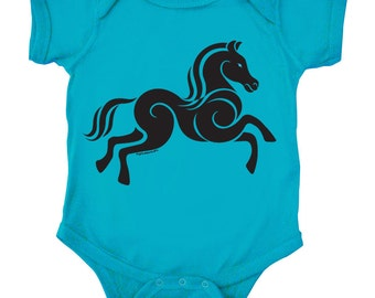 Horse Baby One Piece Tee - Year of the Horse